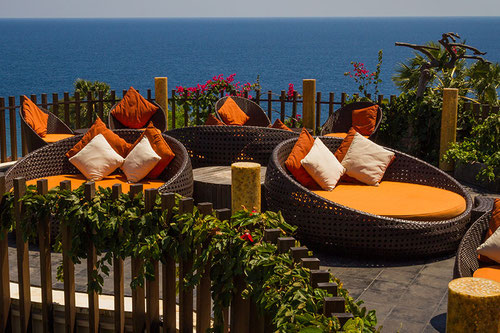 Il Rooftop Lounge del Griya Villas and Spa ad Amed (Photo by GRIYA)