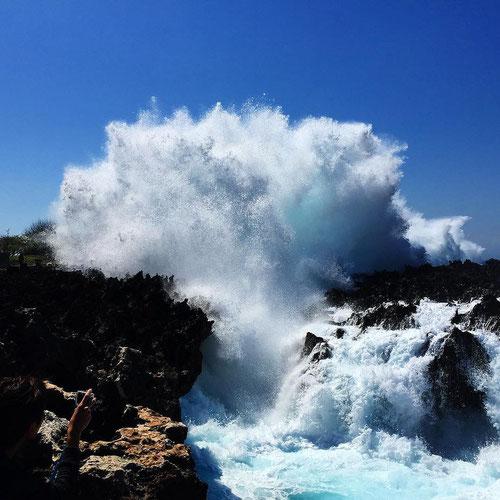 Il Water Blow a Nusa Dua, Bali (Photo by Yudi Setiawan)