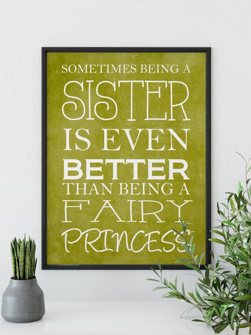 Kunstdruck Wohnen & Leben Wanddeko Being a sister