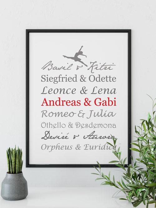 Wohnideen Kunstdruck Ballett Paare