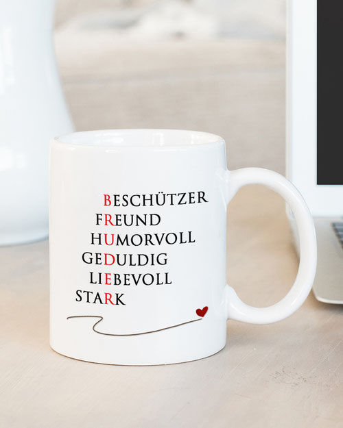Tasse mit Spruch Bruder Wohnen & Leben