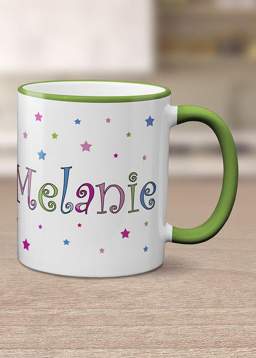 Wohnen & Leben bedruckte Tasse mit Name