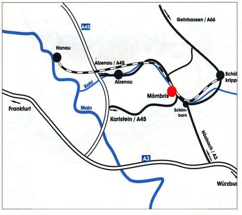 Anfahrt von Alzenau und Mömbris siehe 2. Karte