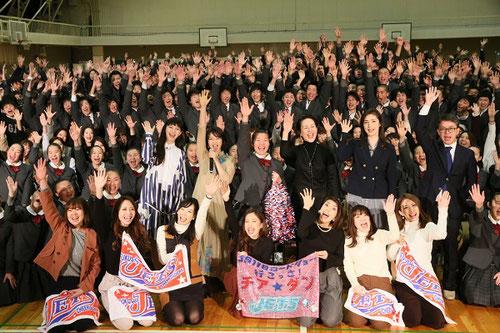 2月4日(土)に福井商業で行われた『チア☆ダン』特別試写会イベントの様子