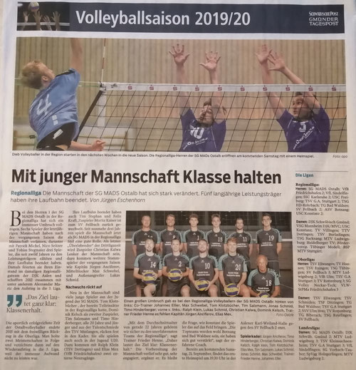 Bericht der Gmünder Tagespost vom 18.09.2019