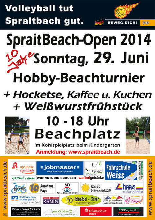 Plakat SpraitBeach-Open 2014