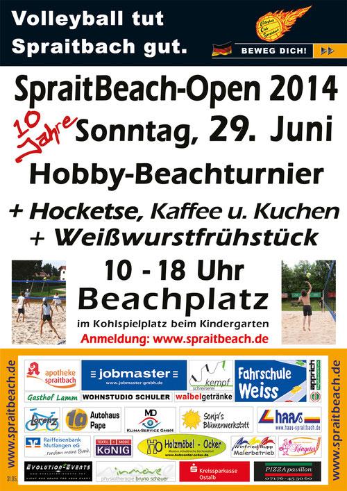 Plakat SpraitBeach-Open 2014