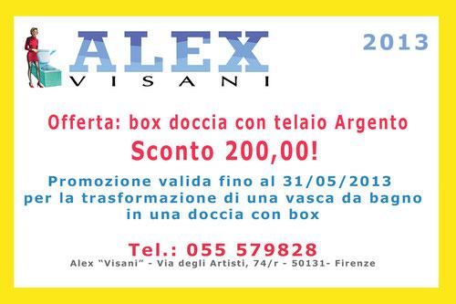 Promozione maggio 2013 sconto di 200 00 euro per la - Box doccia per vasche da bagno ...