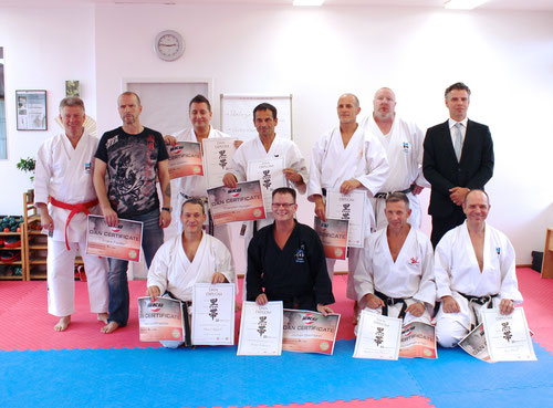 Dan-Prüfung im Karate Kollegium Deutschland in Berlin