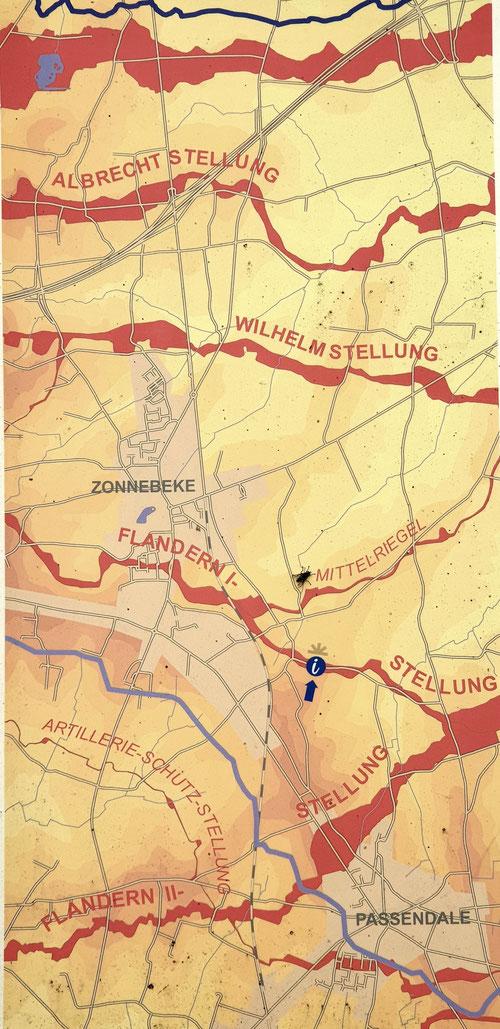 Stellungen der Deutschen am Ypern- Bogen