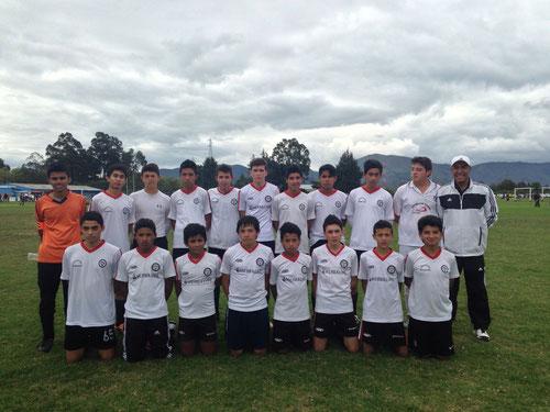 Equipo Prejuvenil A de San Pablo, tras el triunfo 3-1 sobre Atlético Nacional el 29 de Septiembre en el Torneo Maracaná 2013