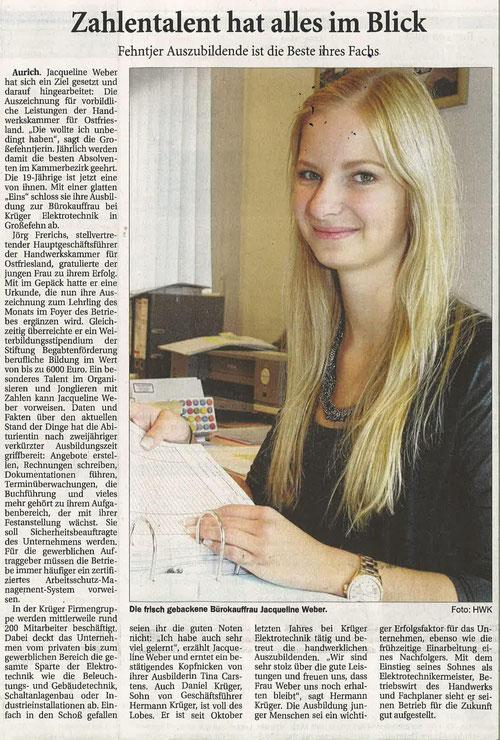 Ostfriesische Nachrichten 02. September 2014