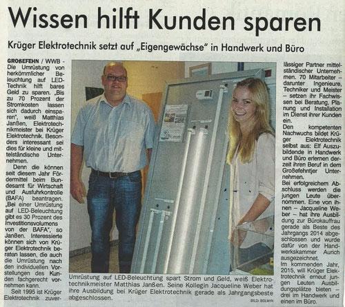 Ostfriesen Zeitung 24. September 2014