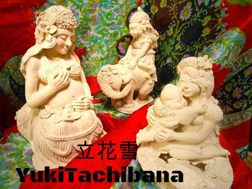 素焼きの状態 2013 12月 炎と楽園のアート 立花雪 YukiTachibana