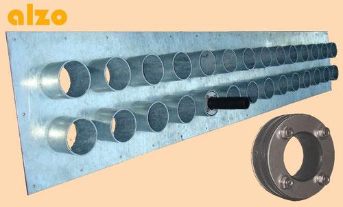 fourreaux en acier pour introduction sondes géo-thermiques