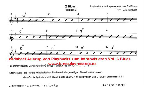 Playbacks zum Improvisieren Vol. 3 - Blues