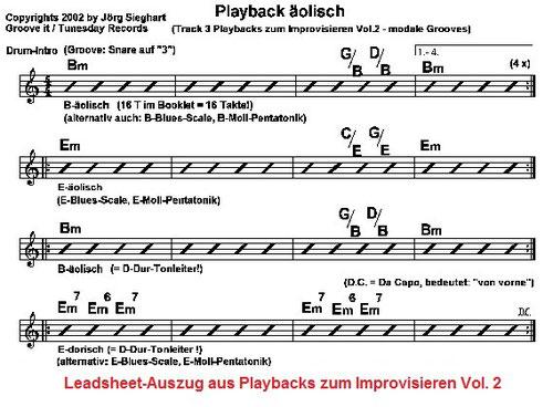 Playbacks zum Improvisieren Vol. 2 - modale Grooves zum e-gitarre lernen