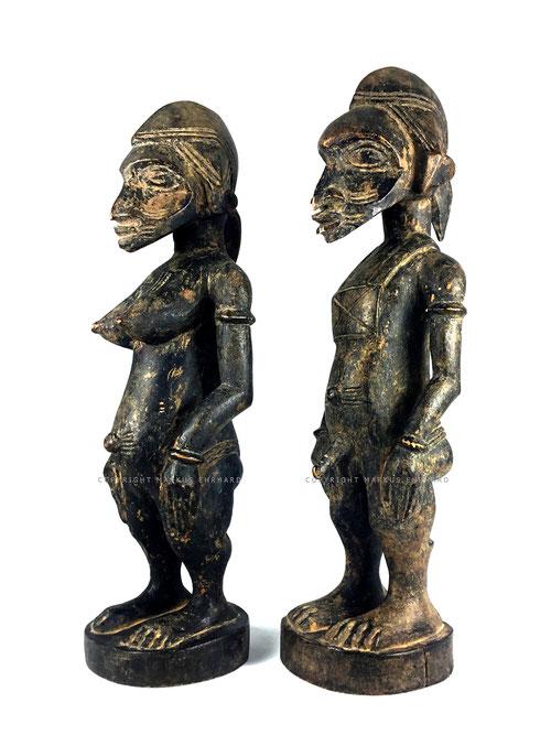 Masterpiece Tugubele couple by Sabariko Kone Senufo Ouezomon Senoufo art