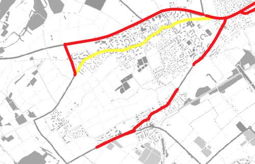 Extrait du plan de mesures d'assainissement du bruit routier OPB 2016