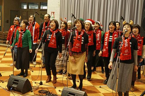 アルファアカデミーゴスペルスクール京都桂病院クリスマスライブ