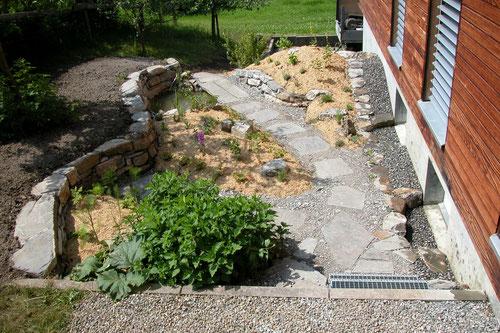Kräutergarten mit Teich, Lehrlingsarbeit 3. Lehrjahr