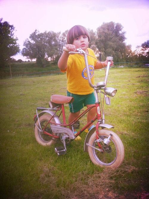Dieses Fahrrad haben wir gestern geschenkt bekommen! :-))