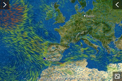 Ein Sturmtief zieht über Portugal
