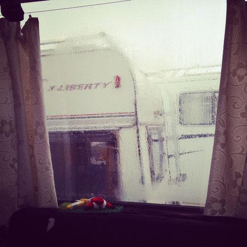 heutiger Blick aus unserem Fenster