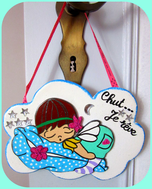 Panneau de porte en bois pour enfant