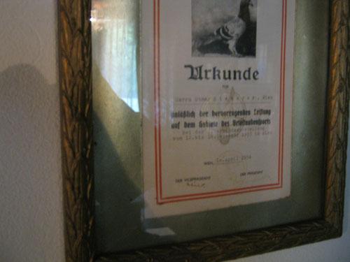 Die erste Urkunde meines Lebens, als 15 jähriger, damit begann der Zirkus, der bis heute andauert!