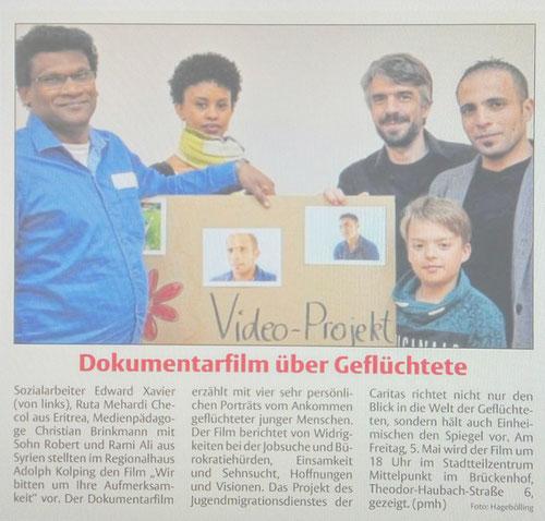 Christian Brinkmann, Edward Xavier & Team interviewten Flüchtlinge und drehten einen Film 2017