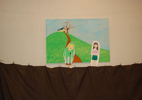 2013年八事教会子供クリスマス会 ペープサート「たいせつなきみ」