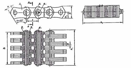 1 - рабочая пластина; 2 - удлиненная призма; 3 - внутренняя призма; 4 - соединительная призма; 5 - шайба; 6 - шплинт