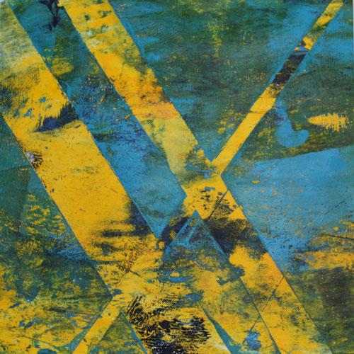 Montotypie, 15 x 15 cm, Acrylfarbe