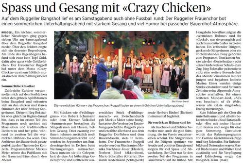 Lokalzeitung Vaterland, 30. Juni 2014