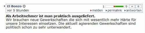 Quelle: http://derstandard.at/1371171463217/Kultur-der-Angst-bei-Deutschlands-Arbeitnehmern#forumstart