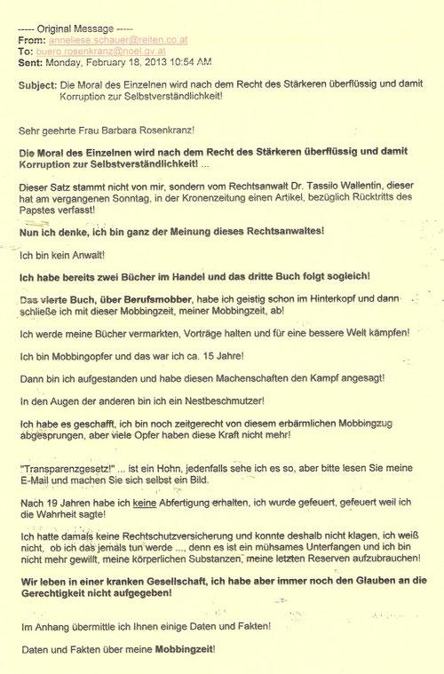 Offener Brief Für Alle Mobbingopfer Selbsthilfegruppe Mobbing Graz