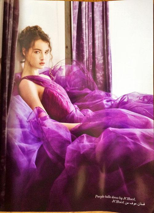 Purple tulle dress by Juergen Christian Hoerl - PASHION Magazine  JCH Designer Fashion Juergen Christian Hoerl