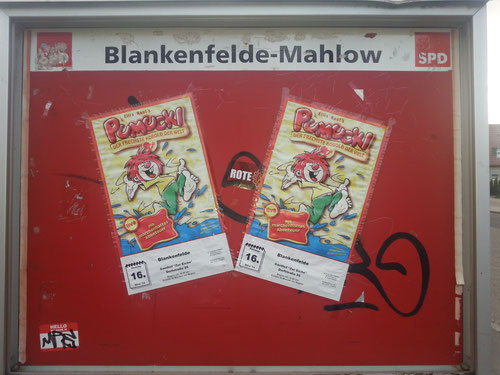 SPD-Schaukasten am Bahnhof Blankenfelde