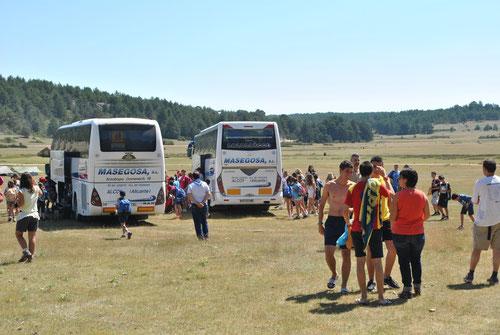 Llegada autobuses