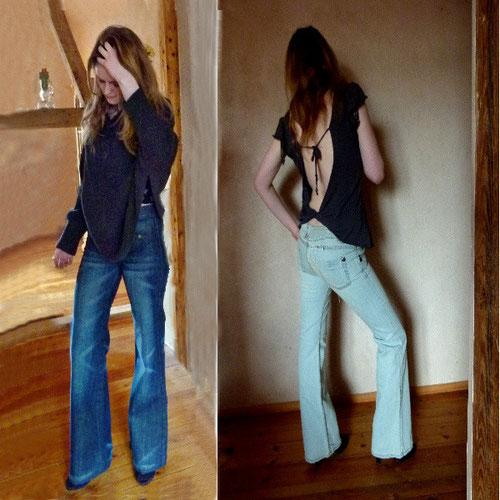 Schlaghosen Jeans Highwaist Herbst- und Wintertrends die 70iger