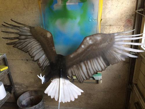 Adler von hinten