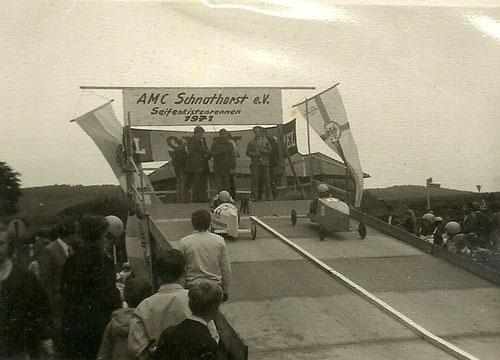 Seifenkistenrennen 1971 in Schnathorst  - Startrampe
