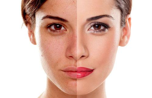 Make Up vorher-nachher
