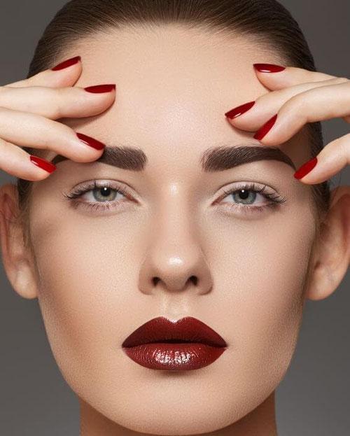 schöne Lippen nach Lippenpeeling