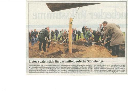 Baustart Kreisgrabenanlage 05-2014 erfolgt