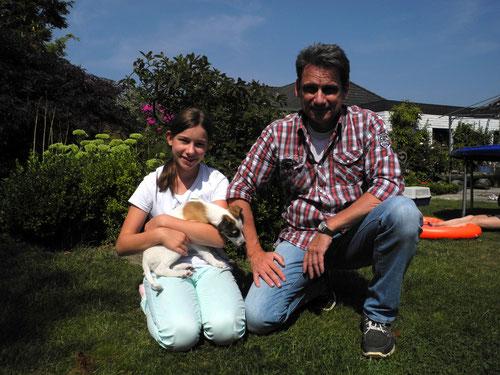 Amia ist am 01.August nach Mannheim gezogen zu Familie Wickert und besonders Carolin ist überglücklich.