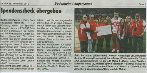 Heimatzeitung Budenheim 15.11.12