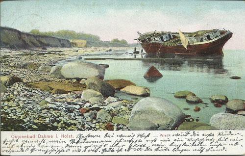 Wrack an der Dahmer Steilküste 1903