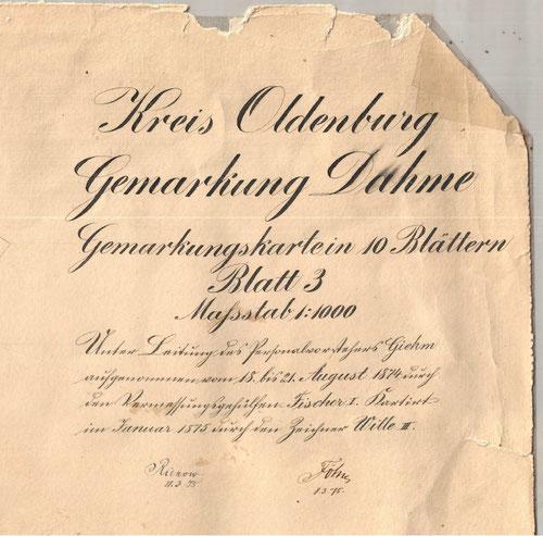 Die größten Landbesitzer damals waren Marius Friedrich Fick (15%),  Heinrich Fick (12%).  Franz Mumm (Wirt und Großkäthner, 6%), Theodor Hagelstein (Wirt, 6%) und Heinrich Mumm (6%).